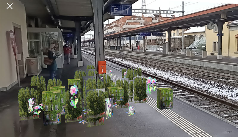 Let it grow 2021! The green train station
